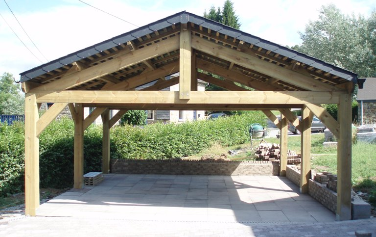 Contact pologne carports robustes en promotion - Carport double pente ...