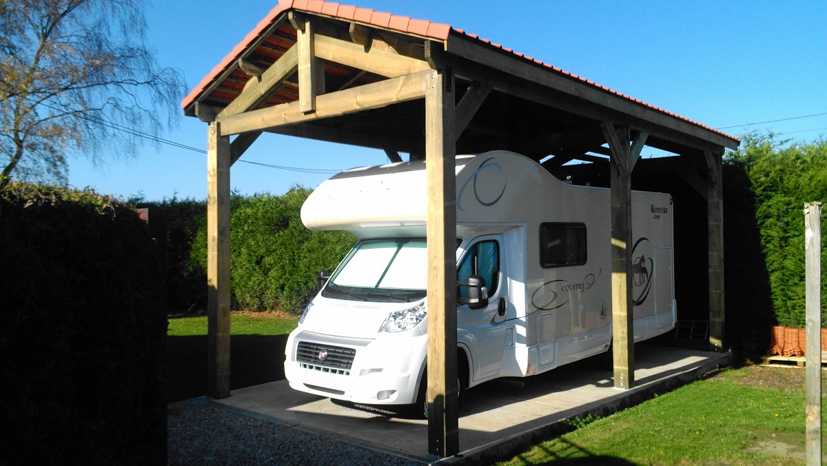 Contact pologne carports robustes en promotion - Carport camping car ...